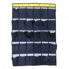 30 Pockets Non-Woven Pouch Closet Wardrobe Rack Hanging Storage Bags Navy