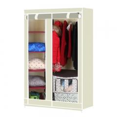 Large Capacity Portable Simple Wardrobe Closet Storage Organizer Closet Beige