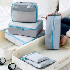 7 Pcs/Set Multi-functional Travel Storage Bag Pouch Clothes Suitcase Grey