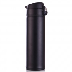 500ml  Candy Color Cute Thermos Cup Vacuum Flask Coffee Mug Water Bottle Black 500ml