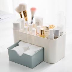 Plastic Cosmetic Organizer Jewelry Box  Makeup Case Brush Box Lipstick Casket For Decorations blue