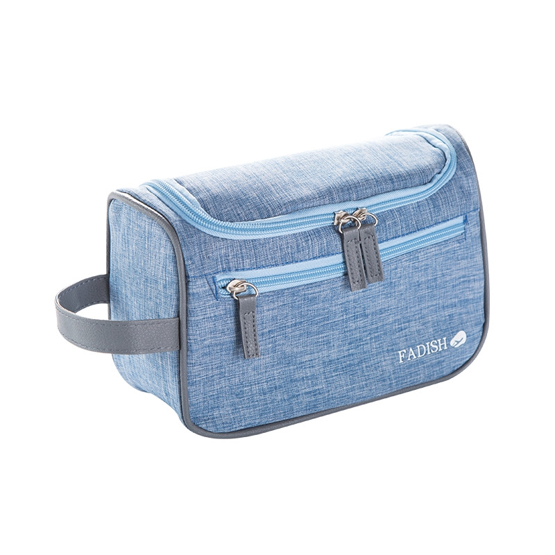 b2354ec87493 Outdoor business man's portable travel waterproof large volume wash bag  Light blue 23.5x9.5x15cm