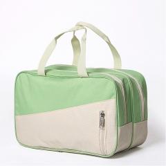 Waterproof Swimming Bag Dry Wet Separation Swimsuit Storage Bags Green+Khaki 32x20x15 cm