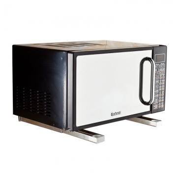 Kitchen Multi-functional Microwave Shelf Rack  Wall-mounted Adjustable Folding Oven Bracket slivery