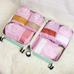 Travel To Receive Household Receive and Tidy Up Receive Bag Suits Pull Box Garment Bag Families pink