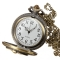 Men's Quartz Movement Antique Locket Design Pocket Watch - Bronze