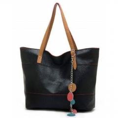 ladies Pu handbag black large