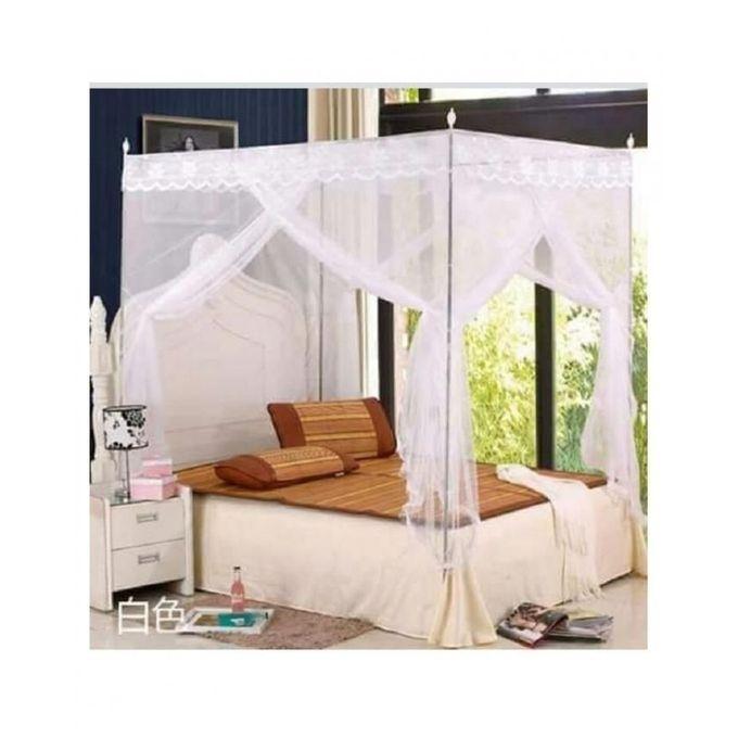 4 stand mosquito net white 4*6