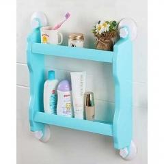 2-Layer Bathroom Organiser & Shampoo Holder - Blue blue medium