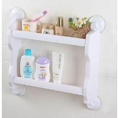 2-Layer Bathroom Organiser & Shampoo Holder - Blue white medium