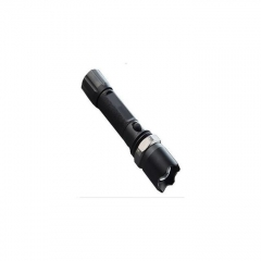 Rechargeable LED Torch With / Flashlight - Black black