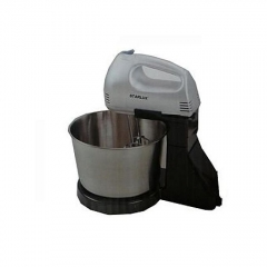 Hand Mixer with bowl black and siver