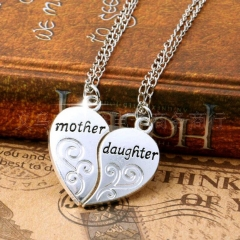 Mother and Daughter Neckchain silver standard size