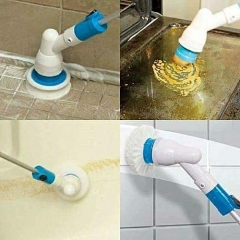 Automatic Tiles  and floor scrubber with free extention pole white epxandable