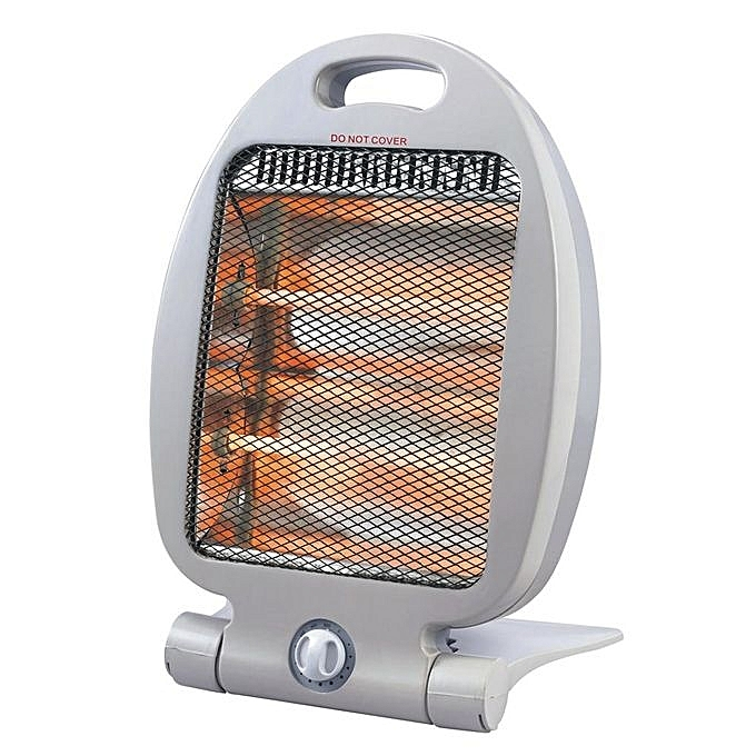 Electric Quartz Room Heater - Silver white