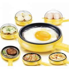 2Pcs/Set Magic Frying Pan Egg Steamer&Pan For Kitchen yellow