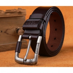 Jeep Brand Jeans Genuine Cowhide Leather Belt Men's Belt brown one size