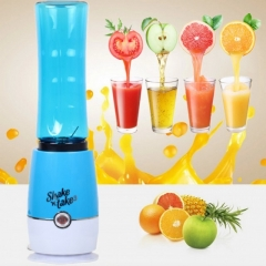 Mini Portable Juicer Cup 500ml Juicer for vegetables fruit Reamers Bottle Home Kichen blue