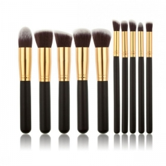 10pcs/Set Makeup Brush Powder/Eye Shadow/Foundation/Concealer Brush Makeup Tools Small Size black