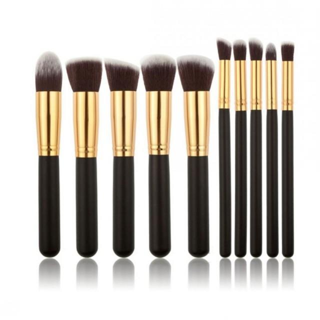 10pcs/Set Makeup Brush Powder/Eye Shadow/Foundation/Concealer Brush Makeup Tools Small Size black