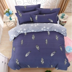 New Fashion Bedding Set 4pcs Duvet Cover(No Duvet) Pillowcases And Flat Sheet Home Bedroom purple 5*6