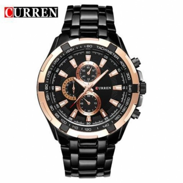 CURREN Brand Men's Business Watch New Fashion Watch Quartz Watch black one size