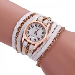 Women's Fashion Watch PU Strap Bracelet Watch New Fashion Quartz Wristwatches white