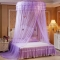 Round Lace Mosquito Net Dome Bed Net Canopy Bed Net Big Size purple one size