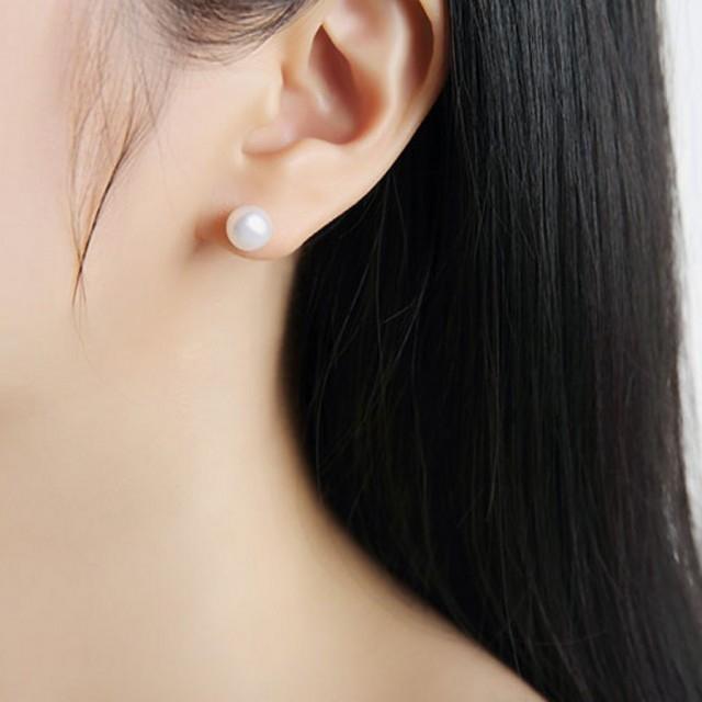 1Pair/Set Earrings New Fashion Jewellery  Women's Fashion Accessories Stud Earrings white 6mm