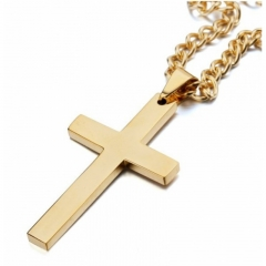 Men's Jewellery Men's Necklace Men's New Fashion Christian Jesus Cross Necklace gold one size
