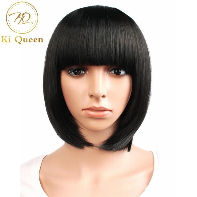 New Fashion Synthetic Bob Wigs Hair Wigs Women Wigs Hair Straight 12inch black 12inch