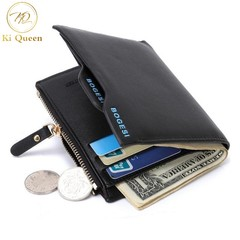 Men Short Paragraph Wallet Business Casual Leather PU Wallet Men Fashion Bag black one size
