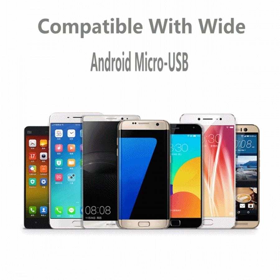 USB Data Cable Android Micro Universal Data Cable For Android 1M white 4