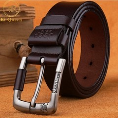 Jeep Brand Jeans Genuine Cowhide Leather Belt Men Belt Men Fashion Accessories brown one size