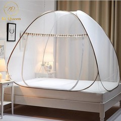 Mosquito Net Tent No Installation Foldable Bed Net For Bedding Room 5X6/6X6 Bed Size brown 5*6(1.5m)