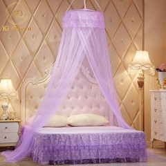 Mosquito Net Round Lace Bed Net For Bedding Room 4X6 Bed Size purple one size