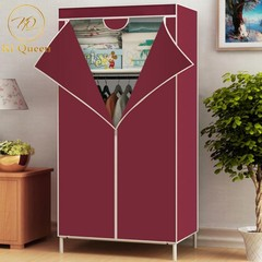 DIY Wardrobe Assemble Closets Portable Home Storage 59*27 Inch red