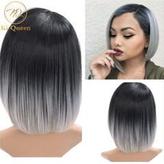 New Fashion Synthetic Wigs Hair Wigs Women's Wigs Hair Straight 12inch black&grey 12inch