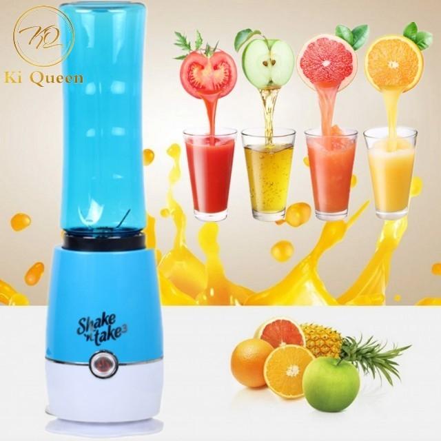Portable Juicer Cup Juicer For Vegetables Fruit Reamers Bottle Home Kichen 500ml blue