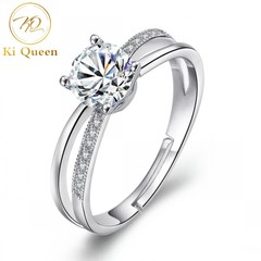 Classic Diamond Ring Women Fashion Jewelry For Wedding Jewellery as picture one size