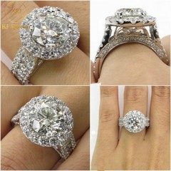 Classic Diamond Rings Women Fashion Jewelry For Wedding Jewellery Women Fashion Accessories as picture 6
