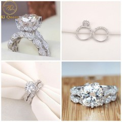 2Pcs/Set Classic Diamond Rings Women Fashion Jewelry For Wedding Jewellery Women Fashion Accessories as picture 6