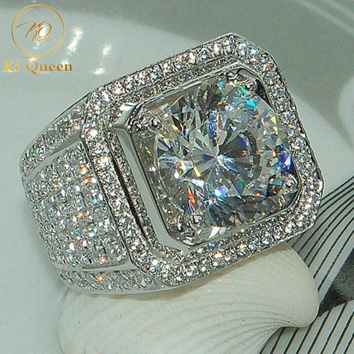 Classic Synthetic Diamond Rings Men Fashion Jewelry For Wedding Jewellery Men Fashion Accessories as picture 8