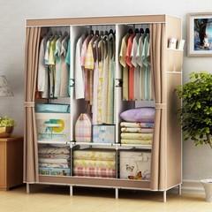 DIY Wardrobe Large Capacity Wardrobe  Assemble Closets Portable Home Storage Big Size brown
