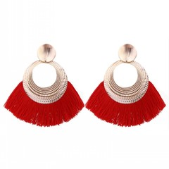 Women Tassel Earrings Women Fashion Jewellery Women Accessories Jewelry red one size