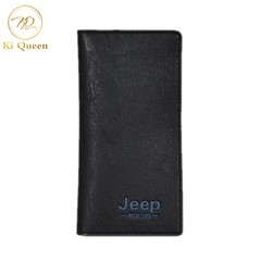 Men Long PU Wallet Classic Business Long Multi-card Purse Men Fashion Leather Wallet light brown one size