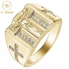 Men Rings Jewelry Classice Christian Jesus Cross Rings Men Fashion Accessories Jewellery gold 9