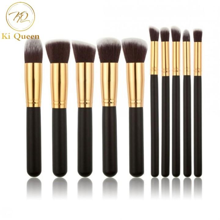 10pcs/Set Makeup Brushes Powder/EyeShadow/Foundation/ConcealerBrush Makeup Small Size black