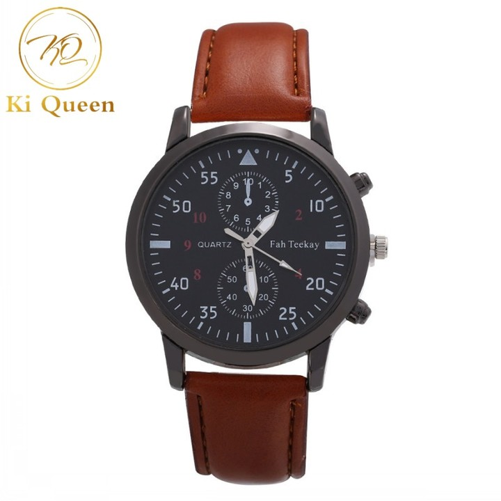 Men Watches Fashion Quartz Watches Men Accessories brown one size