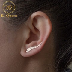 New Fashion Jewelry Women Earrings Metal Tree Leaves Earrings Studs Women Accessories Jewellery silver one size